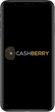 Smartphone with cashberry logo